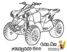 Four wheelers coloring pages and coloring on pinterest for 4 wheeler coloring pages