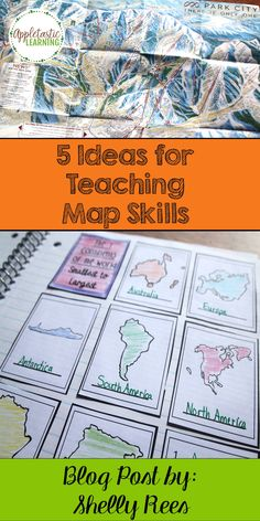 Map Reading Skills are an important concept to teach. Here are 5 easy Map Reading Activities and Map Strategies to get your students interested in maps and to make the job easier for teachers! 3rd Grade Social Studies, Social Studies Classroom, Social Studies Activities, Teaching Social Studies, Reading Activities, Teaching Map Skills, Teaching Maps, Teaching Geography, Geography Lessons