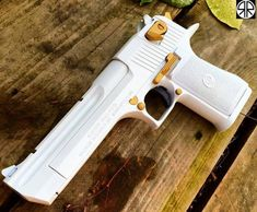 She is a Beauty White Cal Desert Eagle I want a pair! One white one black! Weapons Guns, Guns And Ammo, Airsoft, Rifle, Hand Cannon, Armas Ninja, Desert Eagle, Concept Weapons, Custom Guns