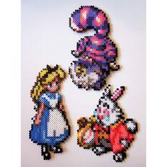 Alice in Wonderland hama perler beads by cheekyb