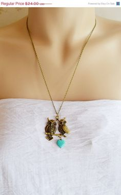 Owl NecklaceOwl JewelryBird NecklaceLove by KimFong on Etsy, $18.00