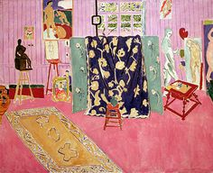 Title: The Pink Studio, 1911 Artist: Henri Matisse Medium: Hand-Painted Art Reproduction abstract Henri Matisse, Matisse Kunst, Matisse Art, Art And Illustration, Hand Painting Art, Painting & Drawing, Pink Painting, Painting Lessons, Painting Inspiration