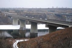 Clover Bar Bridge, North Saskatchewan River, Edmonton, Alberta, Canada