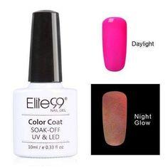 Elite99 10ml Night Glow In Dark Nail Gel Polish Fluorescent Luminous Nail Polish Lacquer 24 Candy Colors LED UV Lamp Pick 1