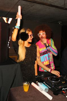 Paris Hilton parties with LMFAO in Park City