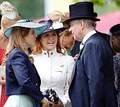 1290-ASCOT, UNITED KINGDOM - JUNE 17: (EMBARGOED FOR PUBLICATION IN UK NEWSPAPERS UNTIL 48 HOURS AFTER CREATE DATE AND TIME) Princess Beatrice, Sarah Ferguson, Duchess of York and Prince Andrew, Duke of York attend day 4 of Royal Ascot at Ascot Racecourse on June 17, 2016 in Ascot, England. (Photo by Max Mumby/Indigo/Getty Images)