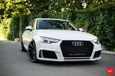 Just the Right Formula: Customized White Audi on Vossen Rims Audi Car Models, Audi Cars, Audi A4 Black, Audi Sports Car, Audi A5 Coupe, Small Luxury Cars, Fancy Cars, Tuner Cars, Audi Q3