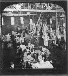 Chicago - Meat Packing Industry: dressing beef, slaughtering floor, Swift & Co.'s Packing House Animal Slaughter, Meat Packing, Chicago House, Sea To Shining Sea, Best Meat, My Kind Of Town, One Summer, Swimming Holes, Chicago Illinois