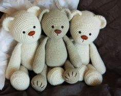 Amigurumi Teddy Bear PATTERN In English by TinyAmigurumi on Etsy