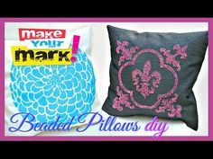 How to: Faux Beaded Pillows