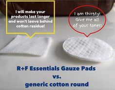 Rodan + Fields ESSENTIALS Gauze Pads will make your toner last longer! Our gauze pads will deliver your toner evenly/effectively and not waste the product. Plus, they don't leave behind cotton residue like the others do.