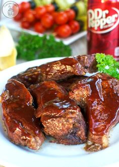 Crock Pot Dr Pepper Ribs - Go get some Dr Pepper from @Target and make these ribs immediately! #OneOfAKindFan #ad