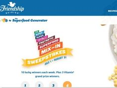 """The Friendship Dairies """"Super-Duper Totally Fantastic Superfood Mix-In"""" Sweepstakes"""