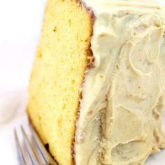 Old-Fashioned Burnt Sugar Chiffon Cake Recipe - Through Her Looking Glass Delicious Cake Recipes, Yummy Cakes, Sweet Recipes, Dessert Recipes, Delicious Food, Burnt Sugar Cake, Dessert From Scratch, Fig Cake, Chiffon Cake