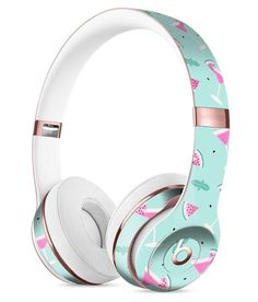 The Pink and Mint Watermelon Cocktail Pattern Full-Body Skin Kit for the Beats by Dre Solo 3 Wireless Headphones
