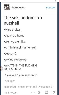 Levi can't die. Or armin. Or eren. Or mikasa. Or potato girl. Or Jean. Just save everyone!!!