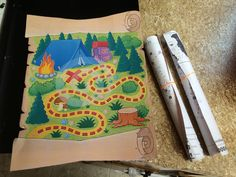 Camping Treasure Map (with your campground map printed on the back with your campsite highlighted)