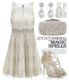 Spring Formal 1244 by boxthoughts on Polyvore featuring polyvore, fashion, style, Laona, Jimmy Choo, Oscar de la Renta, Kenneth Jay Lane, Lancôme, Tommy Hilfiger, INDIE HAIR, clothing and springformal
