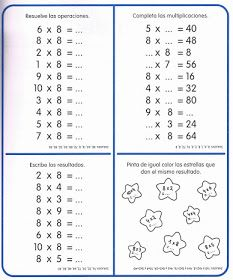 APOYO ESCOLAR ING MASCHWITZT CONTACTO TELEF 011-15-37910372: LAS TABLAS DE MULTIPLICAR (CON ACTIVIDADES) Multiplication Sheets, Math Sheets, 4th Grade Math, Math Class, Math 2, Mental Maths Worksheets, Tools For Teaching, Times Tables, Homeschool Math