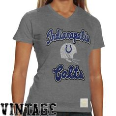 ...this Reebok Indianapolis Colts Ladies Take Back Tri-Blend V-Neck T-Shirt - Ash - GOT IT!