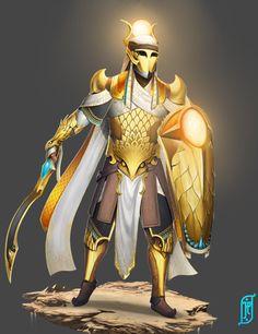 Royal Guard, Paladin, Egyptian, Character Art, Battle, Cool Designs, Princess Zelda, Deviantart, Artwork