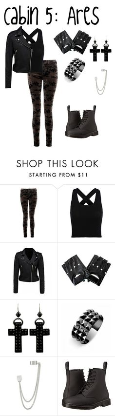 """~Cabin 5: Ares~"" by crazytaylah-22 ❤ liked on Polyvore featuring J Brand, Forever New, Tarina Tarantino, Waterford, French Connection and Dr. Martens"
