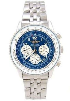 Breitling Navitimer Blue Face with Stainless Steel Band Men's Watch ,cheap Breitling watch discount