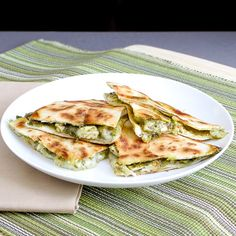 Chicken Artichoke Pesto Quesadilla