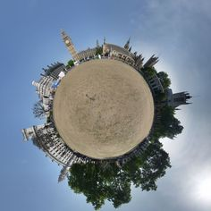 Mini planets: 3D 360-degree stereographic projections (by David Jackson)