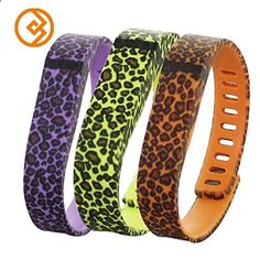 Activity Bracelets Fitness - Bandcase New Style Lepoad Set Size Large L or Size Small S Multicolor Leopard Combinational Replacement Bands with Metal Clasps for Fitbit Flex Only No Tracker/ Wireless Activity Bracelet Sport Wristband Fit Bit Flex Bracelet Sport Arm Band Armband - The benefits of wearing these smart bracelets are not only in your comfort, but also in that they are able to control all your physical progress