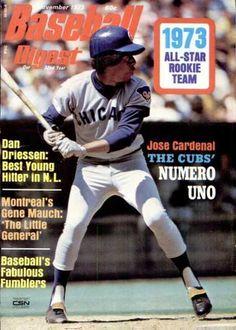 baseball digest covers   Baseball Digest Cover Jose Cardenal