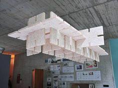 Elemento acústico hecho con paneles de estandar cortados con control numerico  //  Acoustic synecdote  by Matthias Kisch