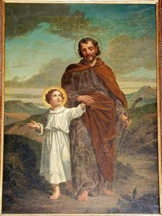 Joseph the chaste St Joseph, Jesus Mary And Joseph, Catholic Prayers, Catholic Saints, Jesus Father, Christian Paintings, Mama Mary, All Saints Day, Jesus Art