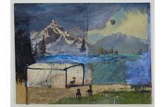 Clint Griffin | Aquarium Theory | Techniques mixtes sur toile (mixed techiques on canvas) |2010 Theory, Aquarium, Wordpress, Collage, Canvas, Artist, Painting, Tela, Artists