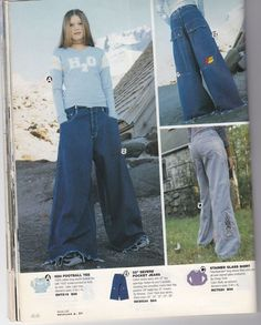 Baggy Pants - The 1999 Alloy Spring Catalog - Early 2000s Fashion, 90s Fashion, Fashion Beauty, Vintage Fashion, Fashion Outfits, Womens Fashion, 00s Mode, Jnco Jeans, Baggy Pants