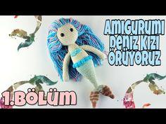 (Amigurumi) Deniz Kızı Yapılışı Bölüm 1 - Kafa Yapımı 1/4 - YouTube