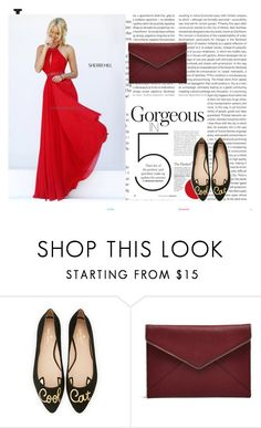 """""""Sherri Hill 50089 Red A Line Homecoming Dress Beaded"""" by chrissybarby ❤ liked on Polyvore featuring Oris, Kate Spade and Rebecca Minkoff"""