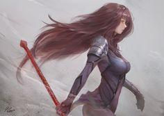 Lancer Alter by raikoart on DeviantArt Fate Anime Series, Art Girl, Scathach Fate, Deviantart, Art, Anime, Fate Grand Order Lancer, Manga, Female Characters