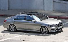 2014 Mercedes-Benz S-Class. The new panel curves and headlight integration in the front and back are smooth. The S-Class exterior is gonna shake things right up in the luxo auto market... again!