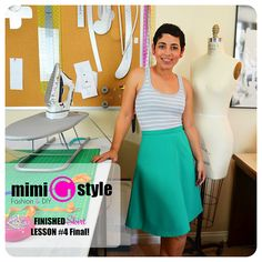 Free Sewing Class - learn to make a simple skirt from start to finish, even if you have no sewing experience!
