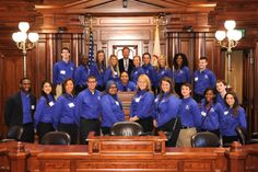 Eastern Illinois University Action Team visiting the Capitol during the 2013 Fall Veto Session