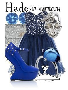 Hades by leslieakay on Polyvore featuring polyvore, fashion, style, CO, Anya Hindmarch, Alexander McQueen, Baccarat, Disney, clothing and disney