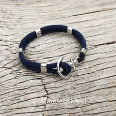 Nautical sailor's anchor bracelet New Haven in navy von byMarisSal
