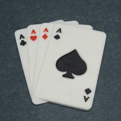 Kartenspiel aus fondant