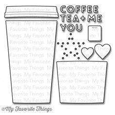 My Favorite Things COFFEE CUP Die-Namics MFT MFT552