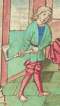 Antonius <von Pforr> Buch der Beispiele — Schwaben, um 1480/1490 Cod. Pal. germ. 85 Folio 96v Medieval Weapons, Medieval Life, Medieval Art, Medieval Costume, Medieval Dress, Medieval Clothing Men, Renaissance, Medieval Crafts, Early Modern Period