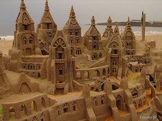 Olhares.com Fotografia | �Ernane Jos� Prado | Escultura de Areia.