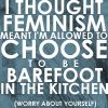 Uh... it does. Nice strawman, icon. Also if everyone just worried about themselves, we'd all be fucked. #feminism #feminist