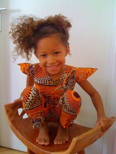 Little girl in African attire