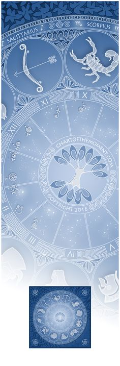 An astrological chart can look like a beautiful mandala...Check out our personalized birth chart art prints on www.chartofthemoment.com/ #blueandwhite